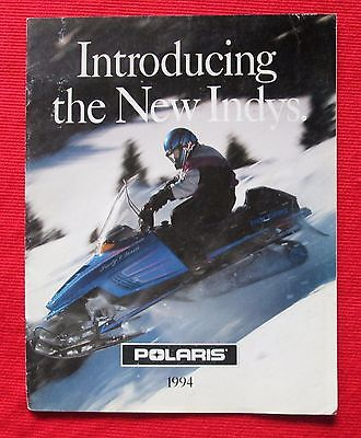 1994 Polaris Snowmobiles Sales Brochure Introducing the New Indys  bau7