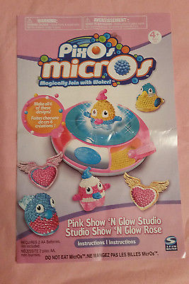 Pixos micros kit with 2000 beads, light up storage base, 3 molds, 6 bases, more