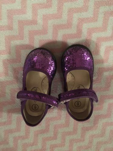 Toddler Girl Cherokee Purple Glitter Shoes Sz 6