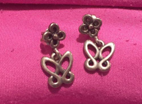James Avery Rare Retired Butterfly Earrings