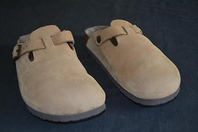 Birkenstock BOSTON LEATHER /Suede Sand CLOG - Size 40 M-7, L-9