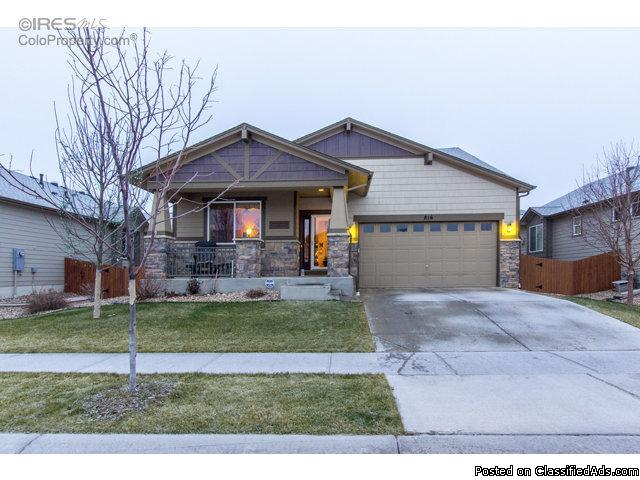 Hard to find ranch home in SE Ft Collins. Nicely appointed with large kitchen...