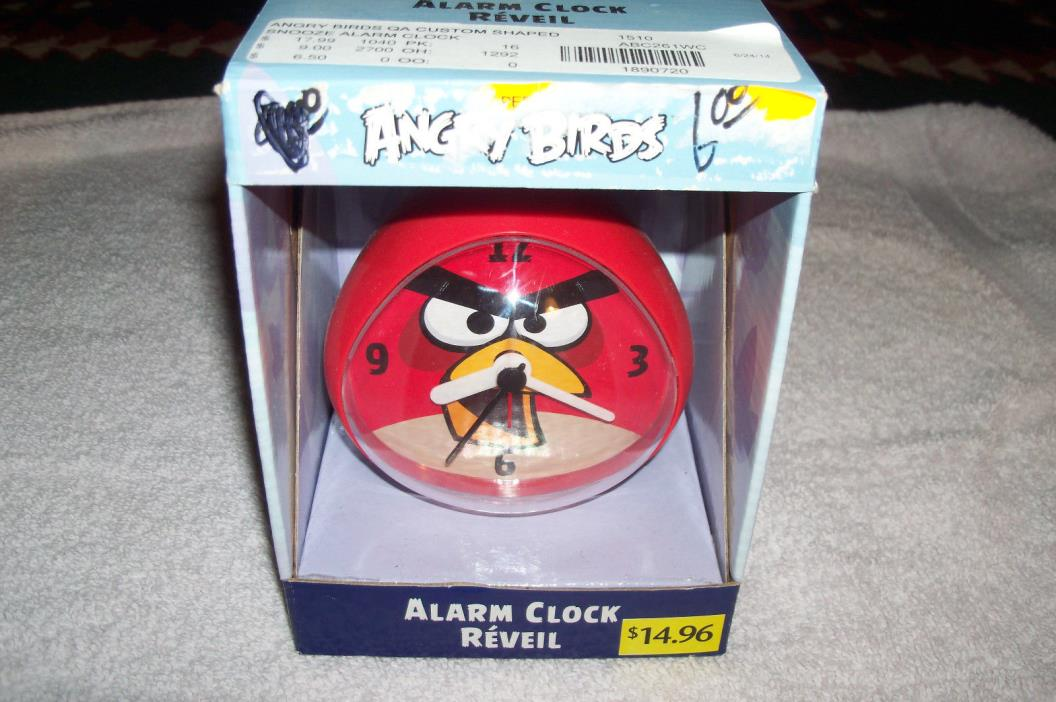 ANGRY BIRDS (RED) ALARM CLOCK REVEIL  , NEW
