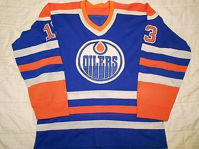 1983-84 Edmonton Oilers Ken Linseman Game Used Worn Jersey Photomatched!!
