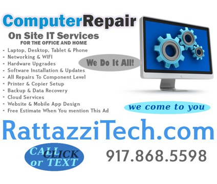 On Site IT Services - Computer Repair - NYC
