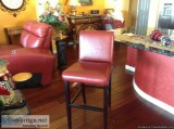 Leather Bar Stool Leather Chairs - Price: $. per chair