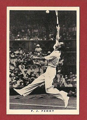 FRED PERRY Last English Tennis Player to win WIMBLEDON Table Tennis 1937 card