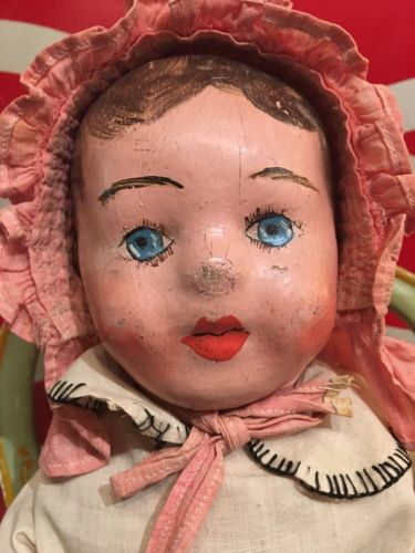 Antique Alabama Baby Rag Doll