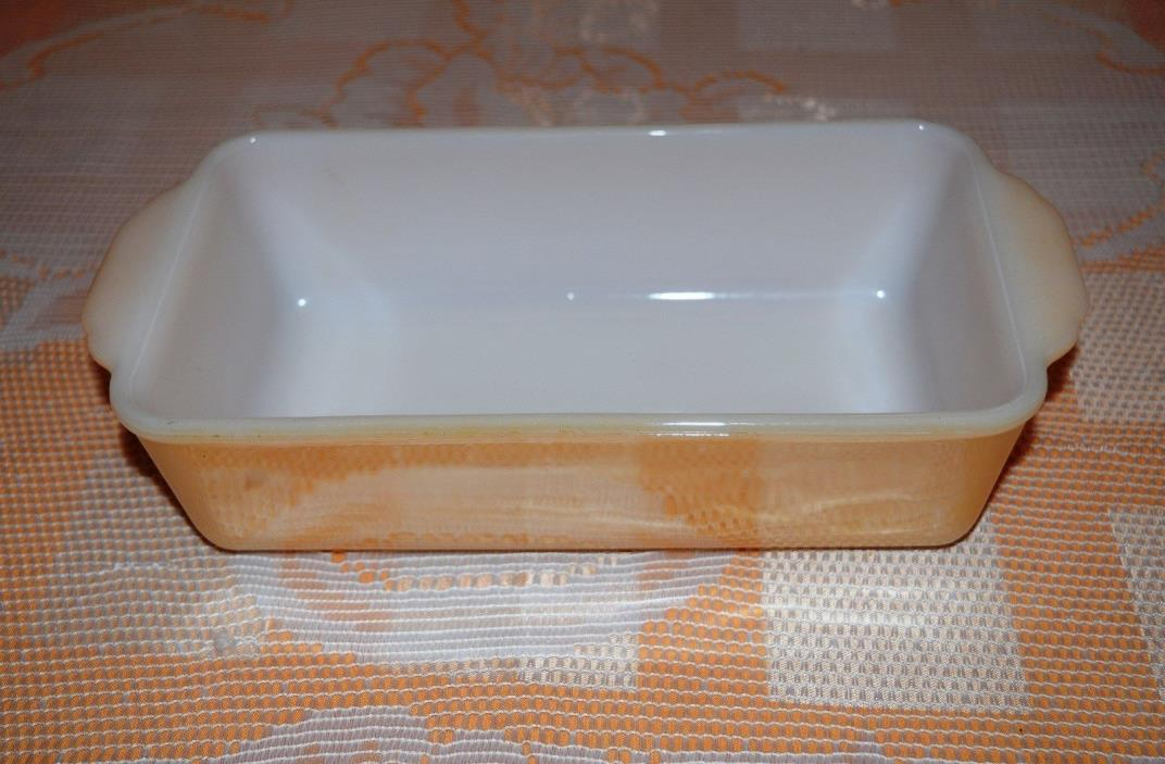 Vintage FIRE KING Peach Lustre Loaf Pan