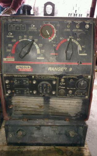 LINCOLN RANGER 9 WELDER GENERATOR KOHLER GAS AC DC ARC WELDER