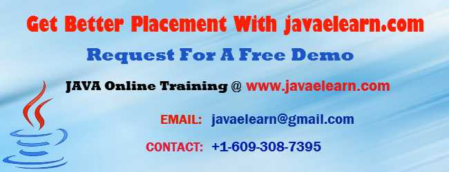 Java Online Training Register For Free Demo