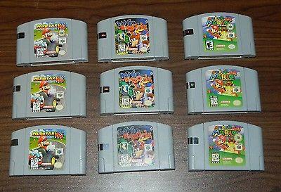 Super Mario 64 - Mario Kart 64  - Banjo Kazooie  Lot of 3 games!
