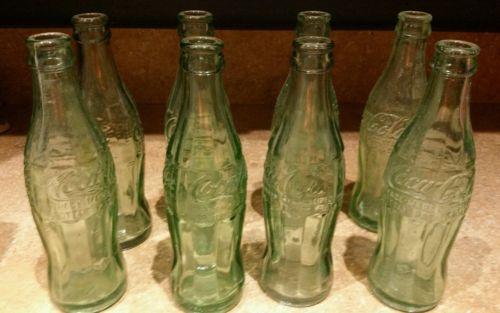 8 Vintage Coca Cola Coke Beverage Soda Glass Bottle USA. 6 OZ Lots of Florida