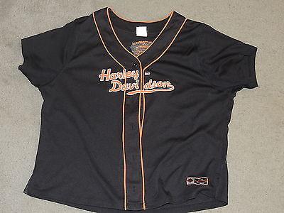 Harley Davidson Victorville California Baseball Jersey Womens Size 1