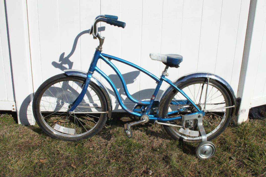 Original Sky Blue Schwinn Bantam Convertible Bar Boys/Girls 20