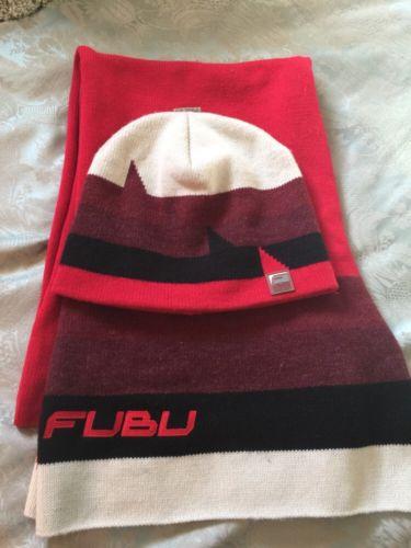 FUBU Hat And Scarf Nice
