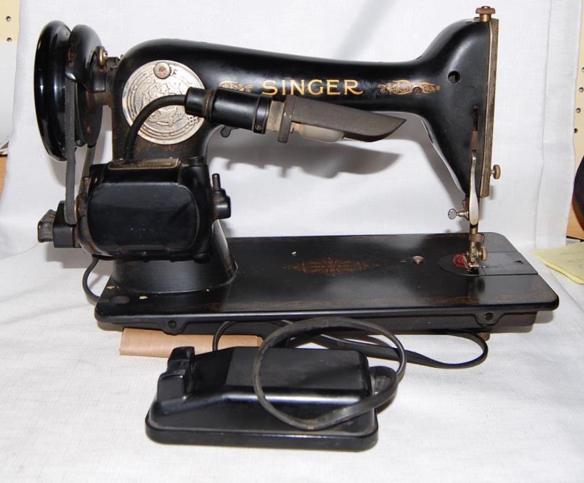 1941 SINGER SEWING MACHINE SERIAL  #AG279661
