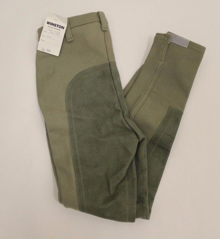 NEW Winston Riding Apparel Ladies Full Seat Breeches King Cotton Olive 24 R