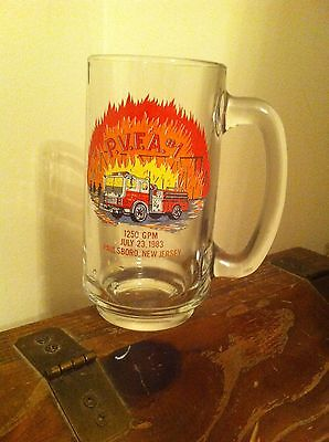 Paulsboro New Jersey Volunteer Fireman's Association July 23 1983 Beer Mug Glass