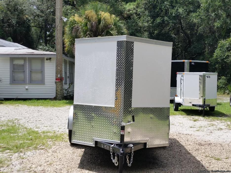 5 x 10 Enclosed Trailers