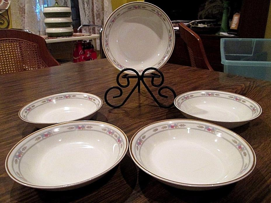 5 SYRACUSE CHINA ORLEANS FRUIT DESSERT BOWLS (SET 5) Circa 1919 3 SETS AVAIL
