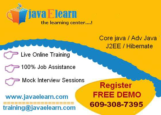 Java Training Online For Unbeatable Price from Java E-learn
