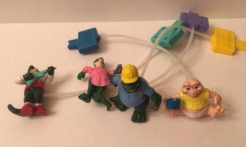 McDonald's Dinosaurs TV Show Pump Toy COMPLETE SET