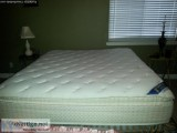 Serta King Size Pillow Top Mattress and Box Spring - Price: .