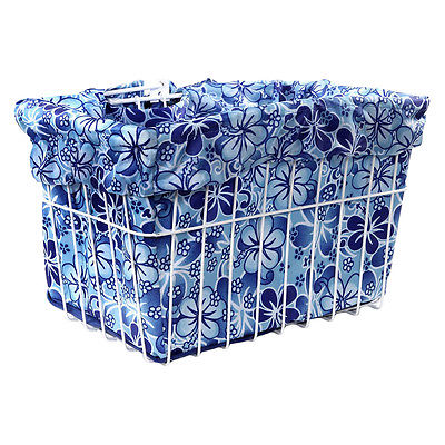 CRUISER CANDY BASKETS Reversible Bike Basket Liner Standard Blue Hawaiian