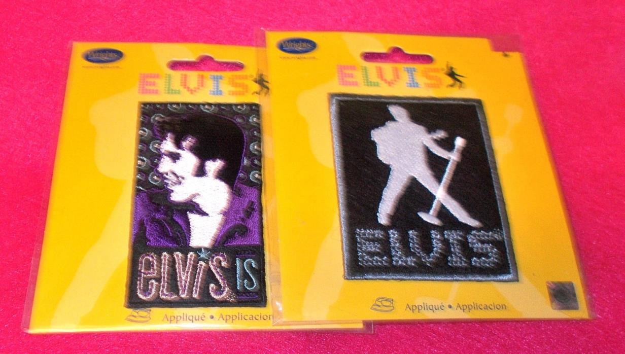 Elvis Presley patches lot Wrights applique Elvis iron on transfers appliques new