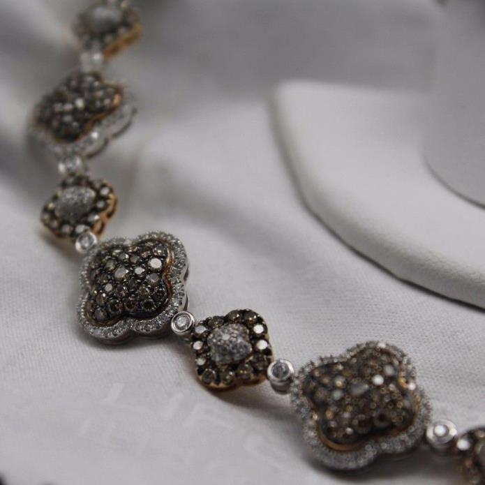 Gregg Ruth Aztec 18kt White and Chocolate Diamond Bracelet  GR 6A031120AB