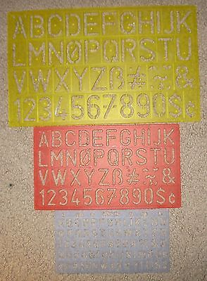 Helix Letter & Numbers Stencils See Pic