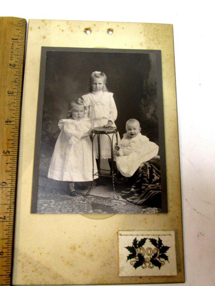ORIGINAL  1909  CALENDAR FAMILY PHOTO