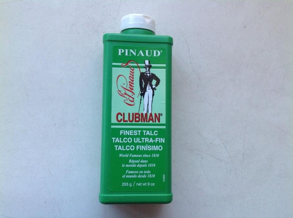 CLUBMAN PINAUD TALC 9oz PROFESSIONAL SIZE.  ( White )