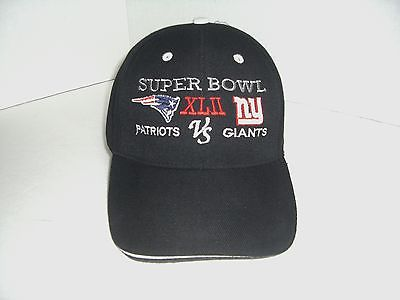 SUPER BOWL XLII  PATRIOTS VS NY GIANTS LOGO HAT