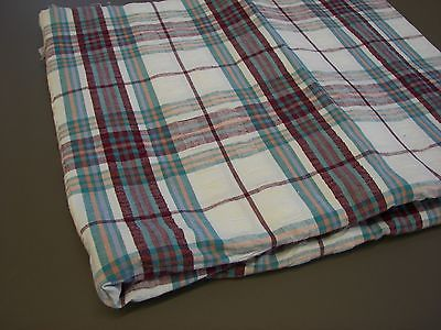 Vintage Seersucker Cotton Fabric - 1  1/3 Yard x 58