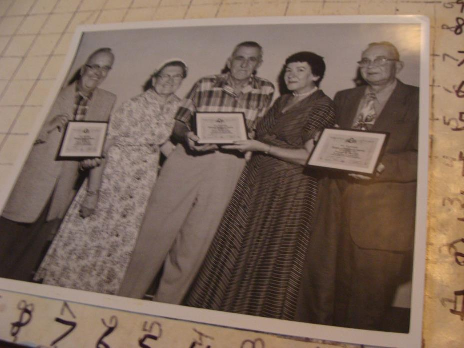 vintage Telephone Topics Photo: 1958 Springfiled Mass, Life Membership awards