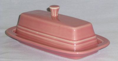 Fiesta Ware - Flamingo Pink - Covered Butter Dish