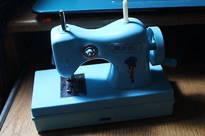 Holly Hobbie Durham 1975 Hand Operated Sewing Machine Mini Blue Vintage