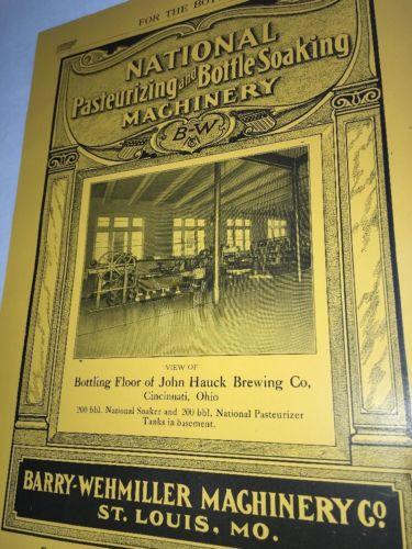 John Hauck Cincinnati Beer Wehmiller Brewing Equipment Advertising St Louis