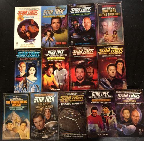13 Star Trek Novels Ships Free