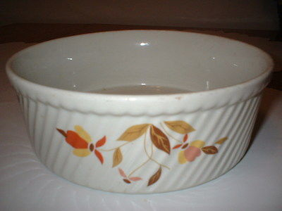 VINTAGE JEWEL TEA CO AUTUMN LEAF HALL'S POTTERY CASSEROLE DISH