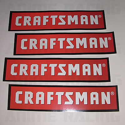 SET OF 4 NEW SEARS CRAFTSMAN BUMPER STiCKERS ViNYL TOOL BOX CHEST DECALS LOT