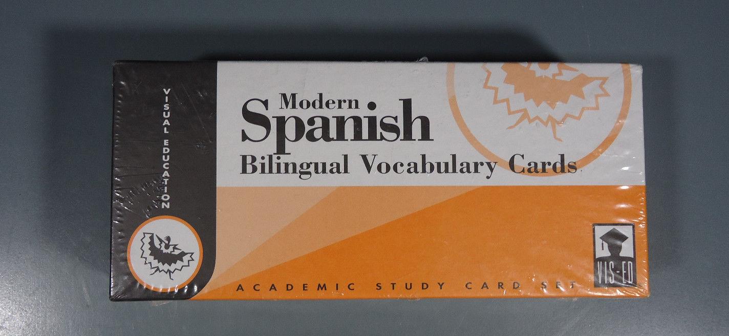 Modern Spanish Bilingual Vocabulary Cards NEW