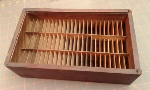Antique Wooden Box Optical Eyes Lenses Trial Travel Caddy w Glass Lid Circa 1880