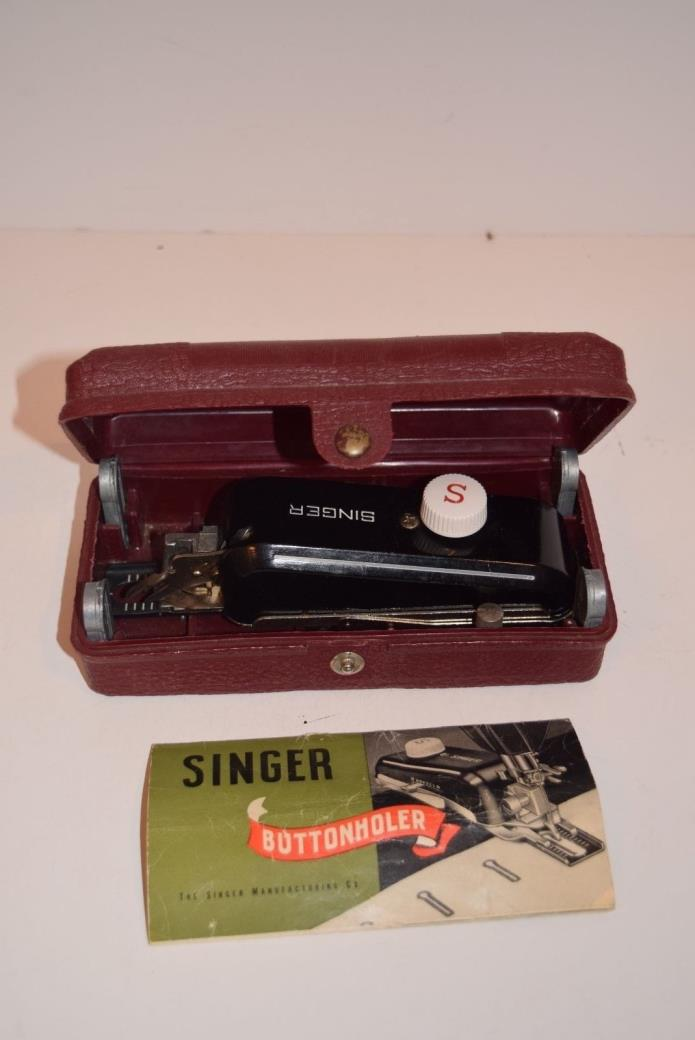 Vintage Singer Sewing Machine Buttonholer No. 160743 - Complete
