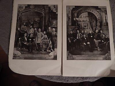 Civil War Union & Confederate Commander Centennial Prints