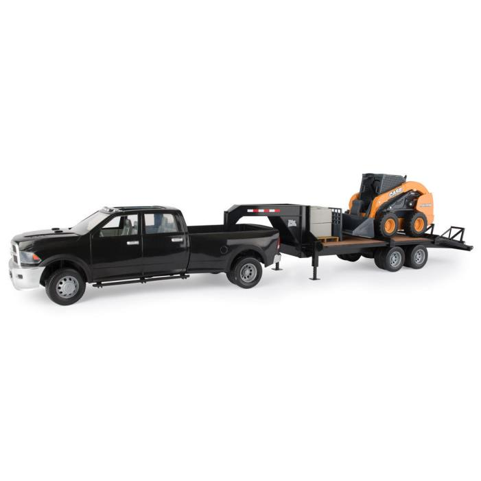 Big Farm Case Skid Steer & Truck & Trailer Set #46614