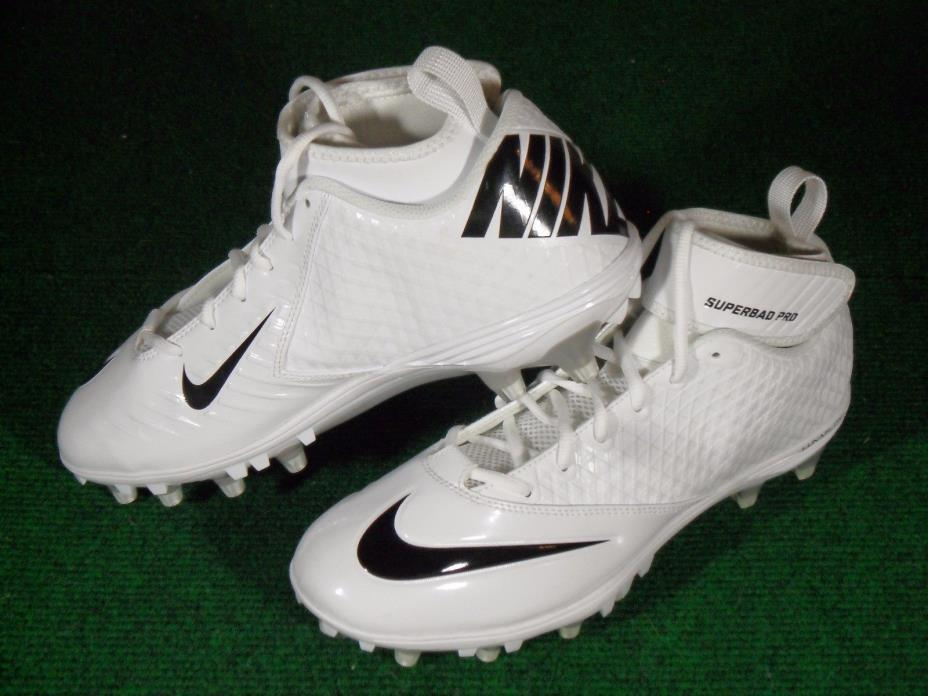 b86346f230b1 ... czech new mens nike lunar superbad pro td football cleats white black  size 10.5 511334 c2485