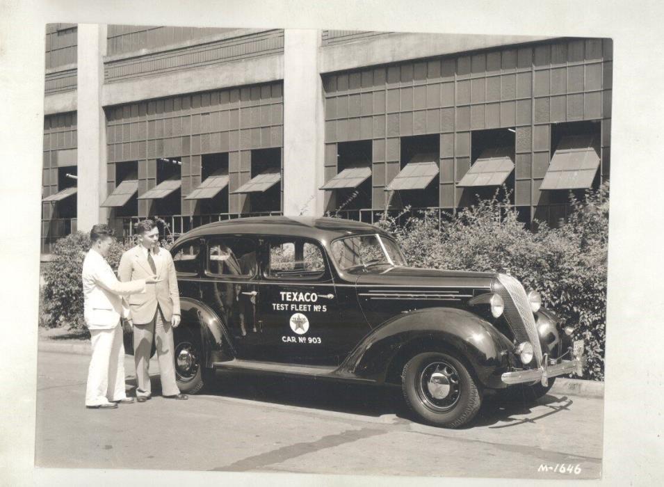1936 Hudson Terraplane Texaco Test Fleet Sedan ORIGINAL Factory Photo ww5826